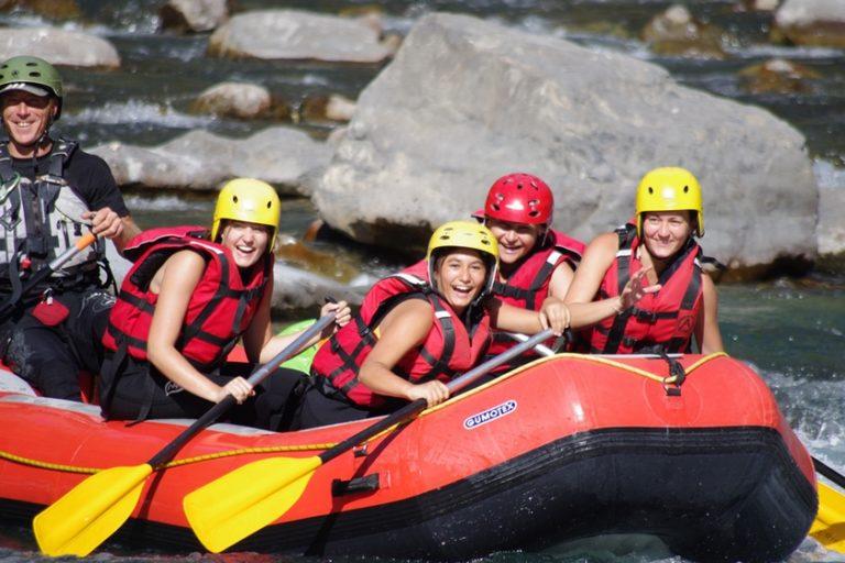 Rafting en famile bourg saint maurice