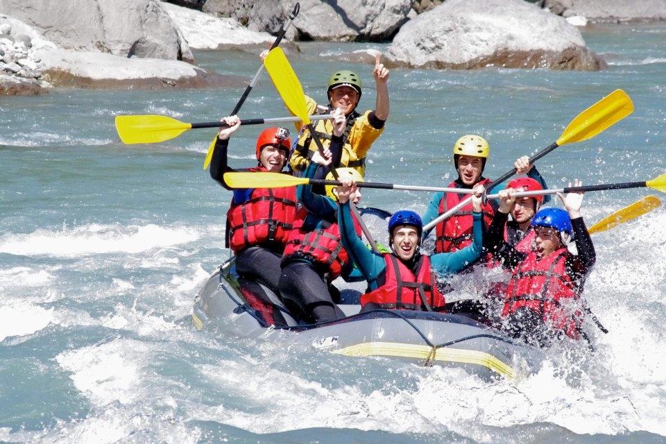 rafting sur l'isère près de bourg saint maurice pour un max de sensations